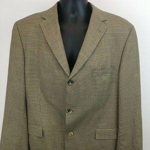 Hugo Boss Men's Brown Checkered Jacket 44R Regular